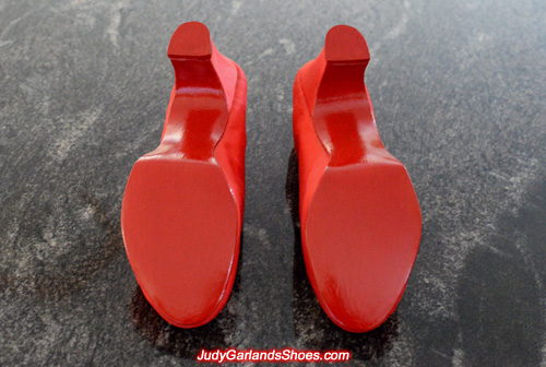 Red glossy soles on Judy Garland's size 5B shoes