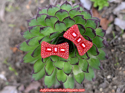 Ruby slipper bows crafted with attention to detail