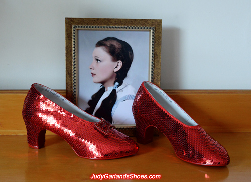 Ruby slippers crafted in November, 2017 is nearing completion