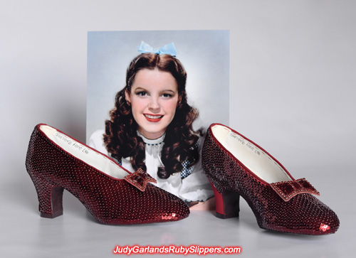 Sequining is drawing to a close on this stunning ruby slippers