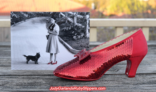 Sequining to perfection with the ruby slippers so far