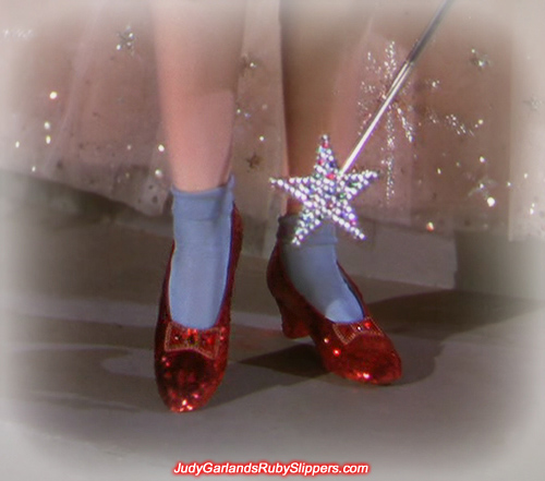 Sexy pair of ruby slippers worn by Judy Garland as Dorothy