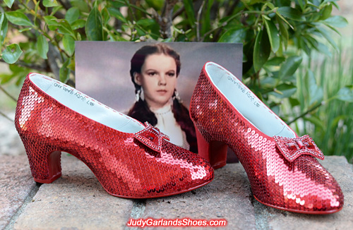Size 5B ruby slippers is taking shape