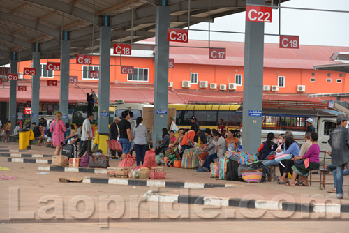 Southern Bus Station in Vientiane, Laos