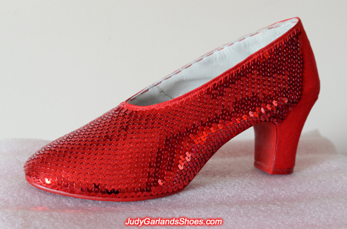 Stunning pair of hand-sewn ruby slippers