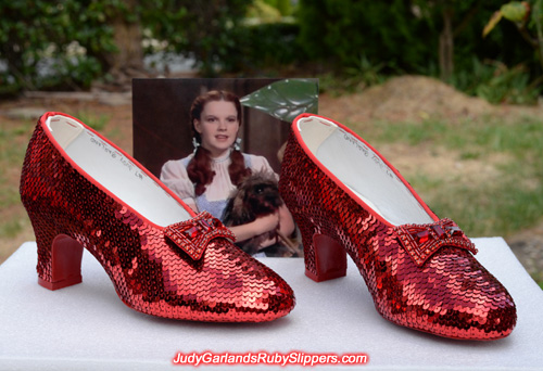 Stunning pair of Judy Garland's ruby slippers
