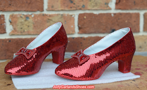 The beauty of Dorothy's ruby slippers