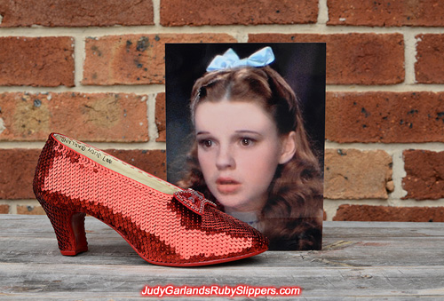 The right shoe is completed for size 5B ruby slippers