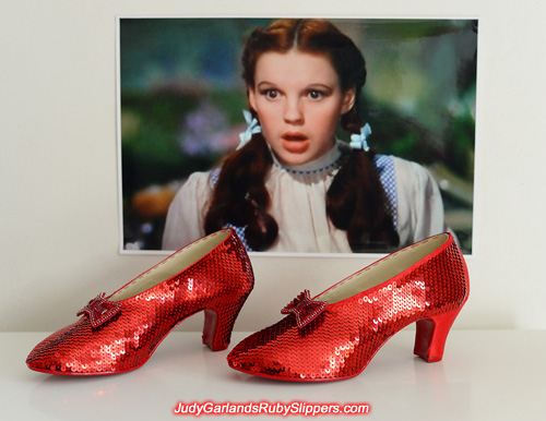 The ruby slippers are nearing completion