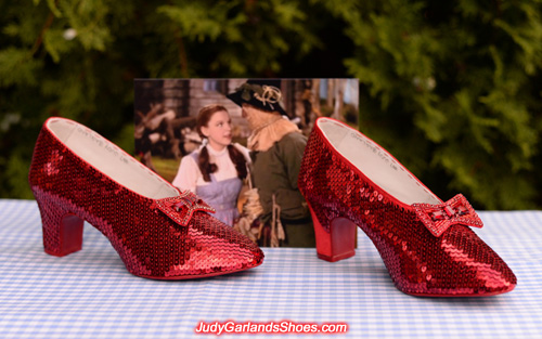 The ruby slippers is taking shape