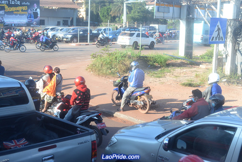 Traffic in Vientiane is getting worse