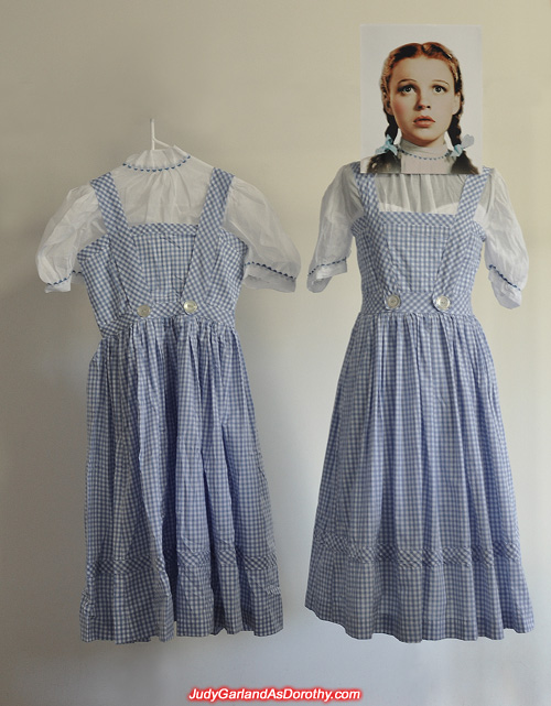 Two gingham pinafore dress and blouse