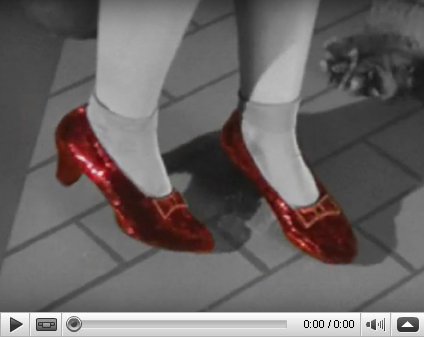 Video of Ruby Slippers crafted in August 2017