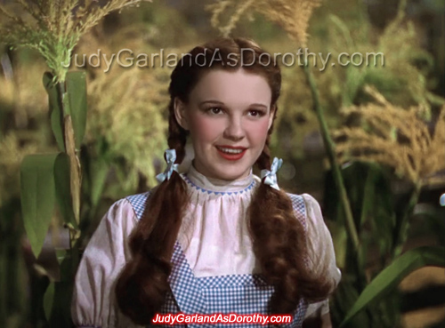 16-year-old Judy Garland as Dorothy in The Wizard of Oz