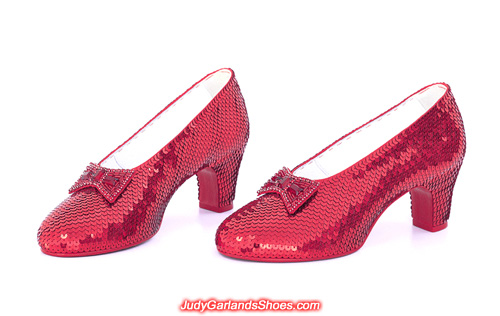 80th anniversary commemorative ruby slippers crafted in January, 2019