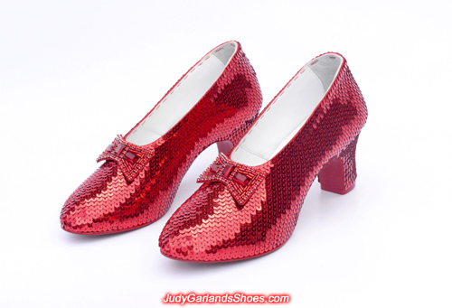 Beautiful pair of ruby slippers crafted in January, 2018