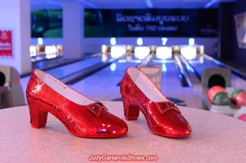 Beautiful pair of size 5B hand-sewn ruby slippers