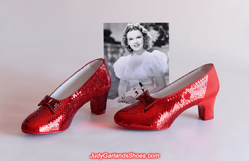 Beautiful size 7 ruby slippers near completion