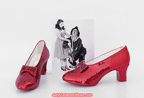 Crafting Judy Garland's size 5B hand-sewn ruby slippers