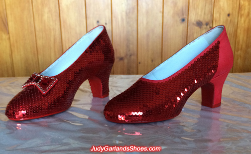 Crafting Judy Garland's size 5B ruby slippers