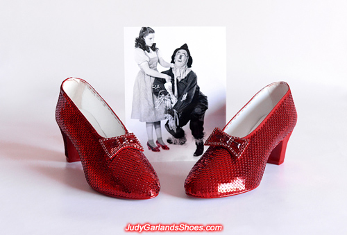 Dorothy's magical ruby slippers is beginning to take shape