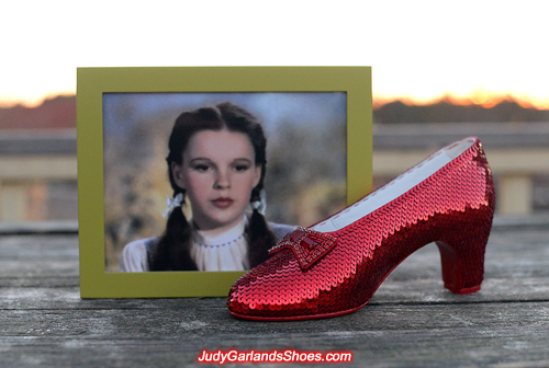Dorothy's perfect right shoe is finished