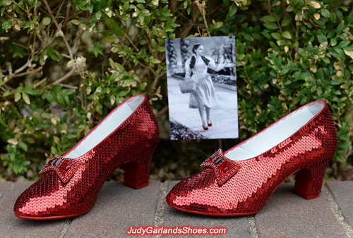 Exquisite pair of hand-sewn ruby slippers to kick off 2018
