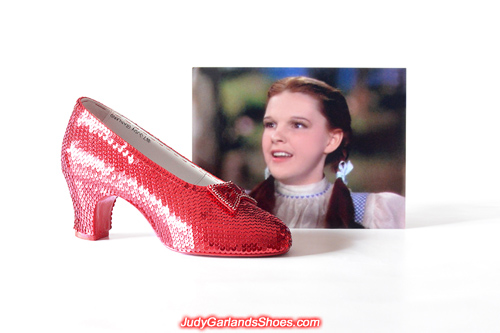 Finished Judy Garland's size 5B right shoe