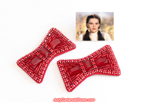 Gorgeous hand-sewn ruby slipper bows