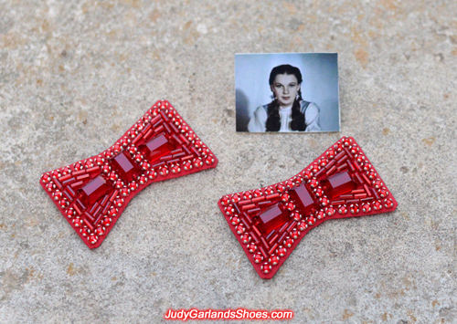 Hand-sewn ruby slipper bows made in September, 2018