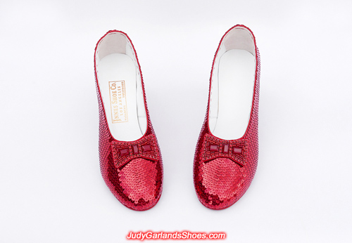 Hand-sewn ruby slippers crafted in August, 2019
