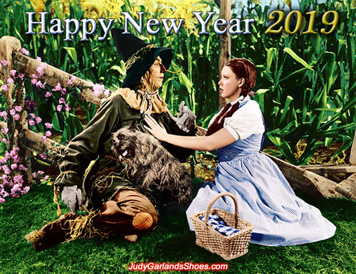 Happy New Year 2019 from Judy Garland's Shoes