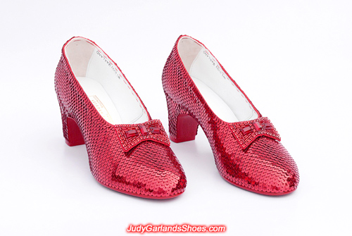 High caliber, wearable, hand-sewn ruby slippers