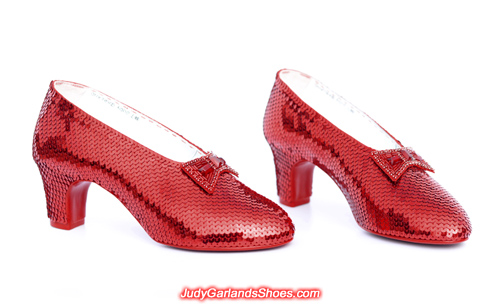 High quality hand-sewn ruby slippers for a VIP