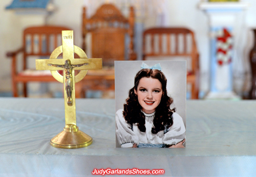 Judy Garland as Dorothy in a Catholic Church