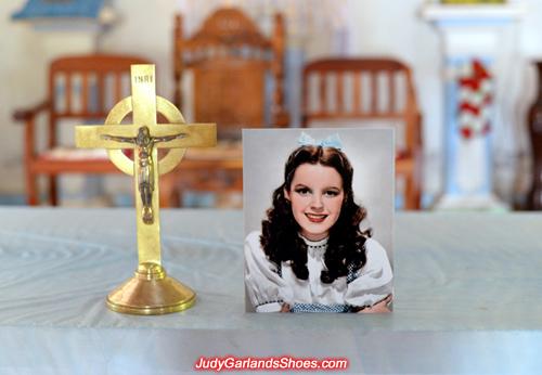 Judy Garland as Dorothy in a Catholic Church