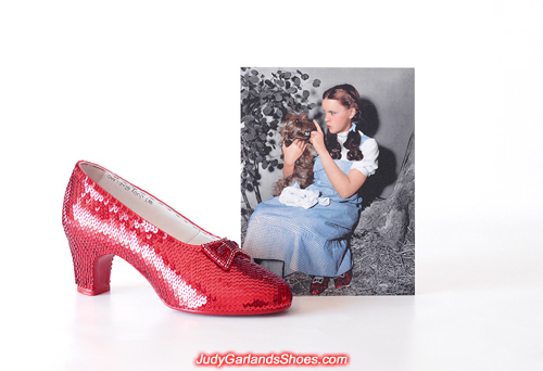 Judy Garland as Dorothy's completed right shoe