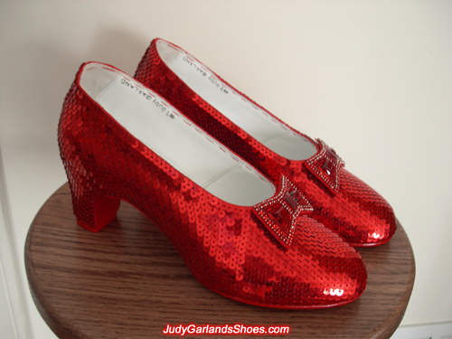 Judy Garland as Dorothy's hand-sewn ruby slippers