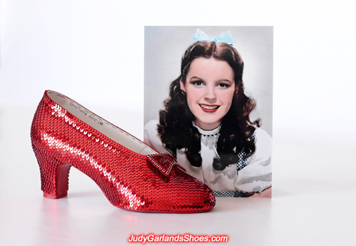 Judy Garland as Dorothy's right shoe is finished