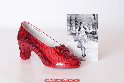 Judy Garland as Dorothy's sequined right shoe