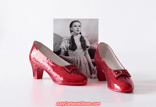 Judy Garland as Dorothy's size 5B ruby slippers