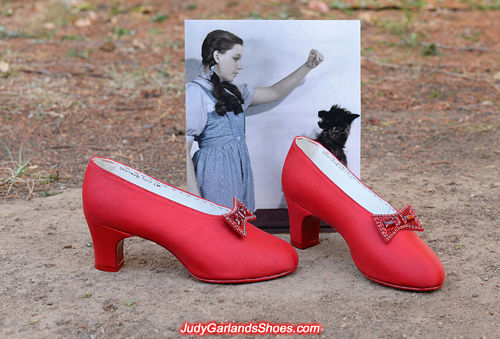 Judy Garland as Dorothy's size 5B shoes