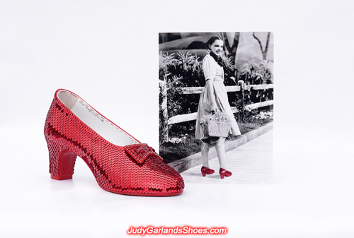 Judy Garland's beautiful right shoe is completed