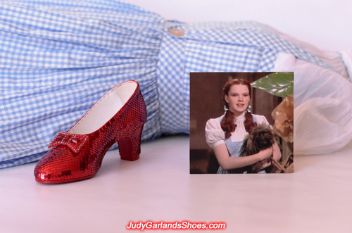 Judy Garland's completed right shoe