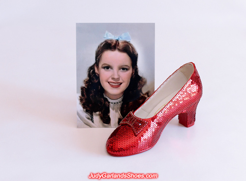 Judy Garland's finished right shoe