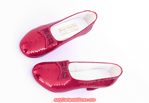 Judy Garland's hand-sewn ruby slippers for a VIP