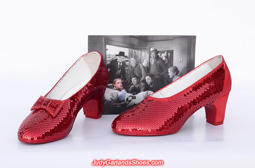 Judy Garland's hand-sewn ruby slippers is taking shape
