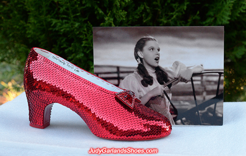 Judy Garland's right shoe is finished