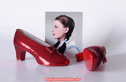 Judy Garland's ruby slippers is a work in progress