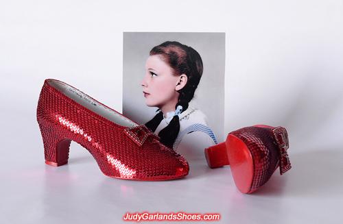 Judy Garland's ruby slippers is a work in progress